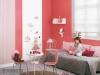 Rosa rote Tapeten fürs Mädchenzimmer