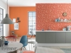 Warme Orange-Töne mit tollen Muster-Tapeten