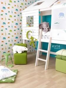 Safari Tiere im Kinderzimmer