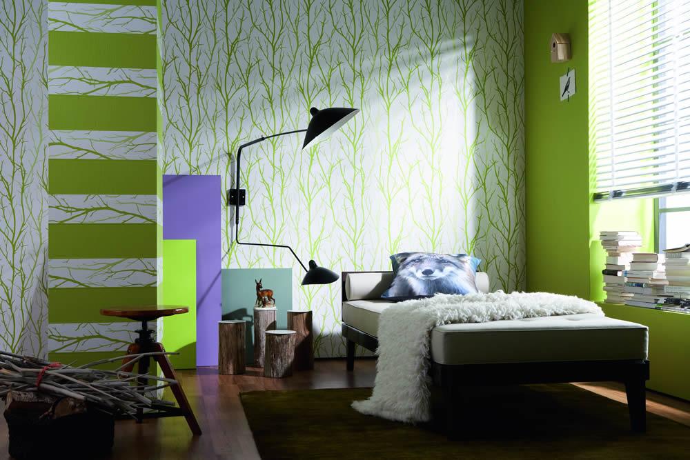 Wand-Gestaltung im Natur-Stil