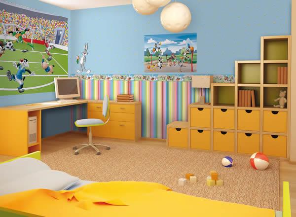 Kinder-Tapeten Wonderland Rasch Textil