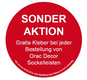 SONDERAKTION - Orac Decor Sockelleisten