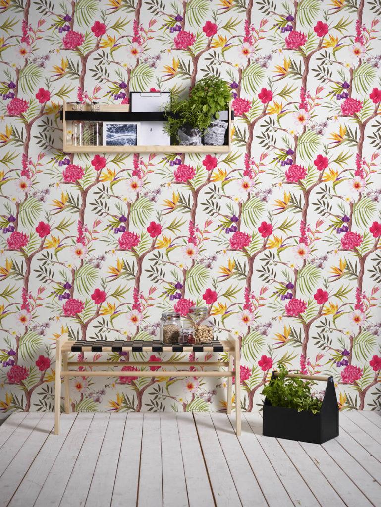 Blumen pink grün braun lila gelb AS Creation Neue Bude 2.0