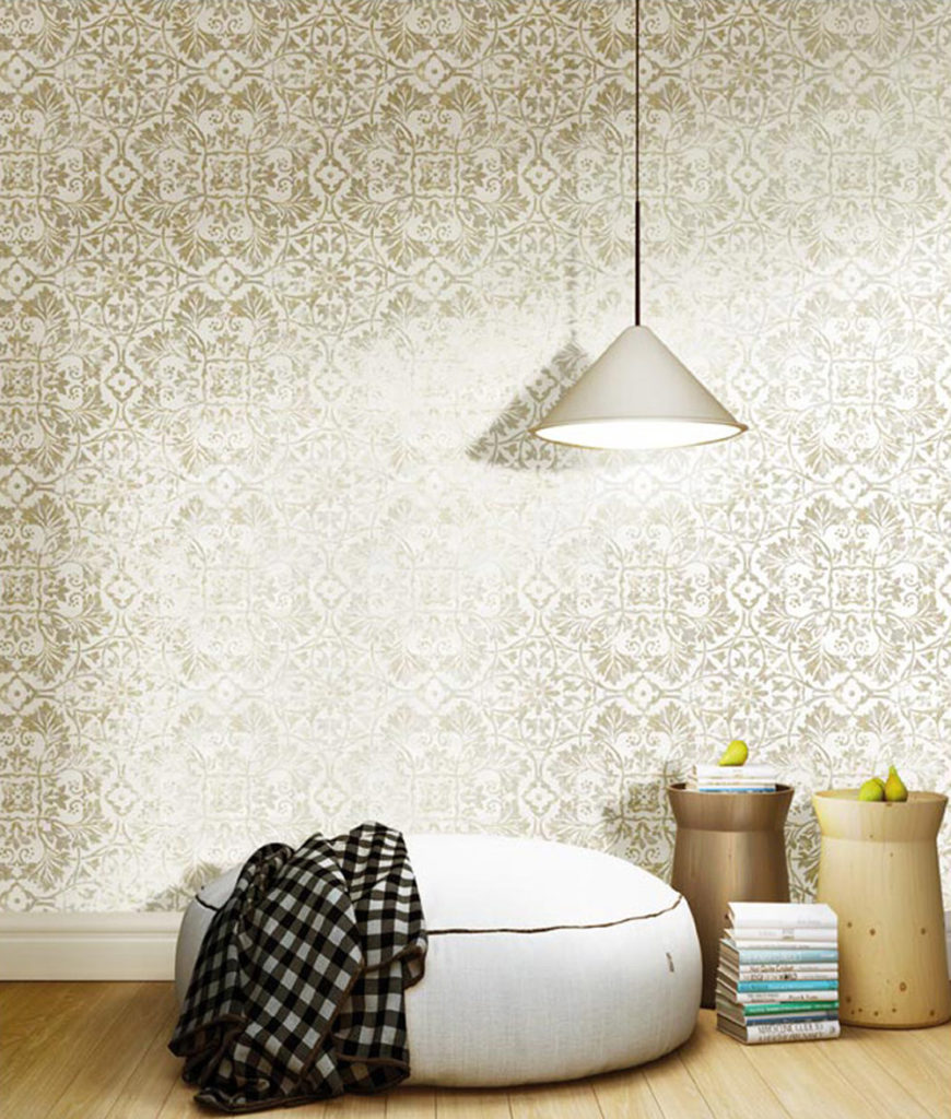 Ornament Muster creme leichter Glanz Rasch Textil Concetto