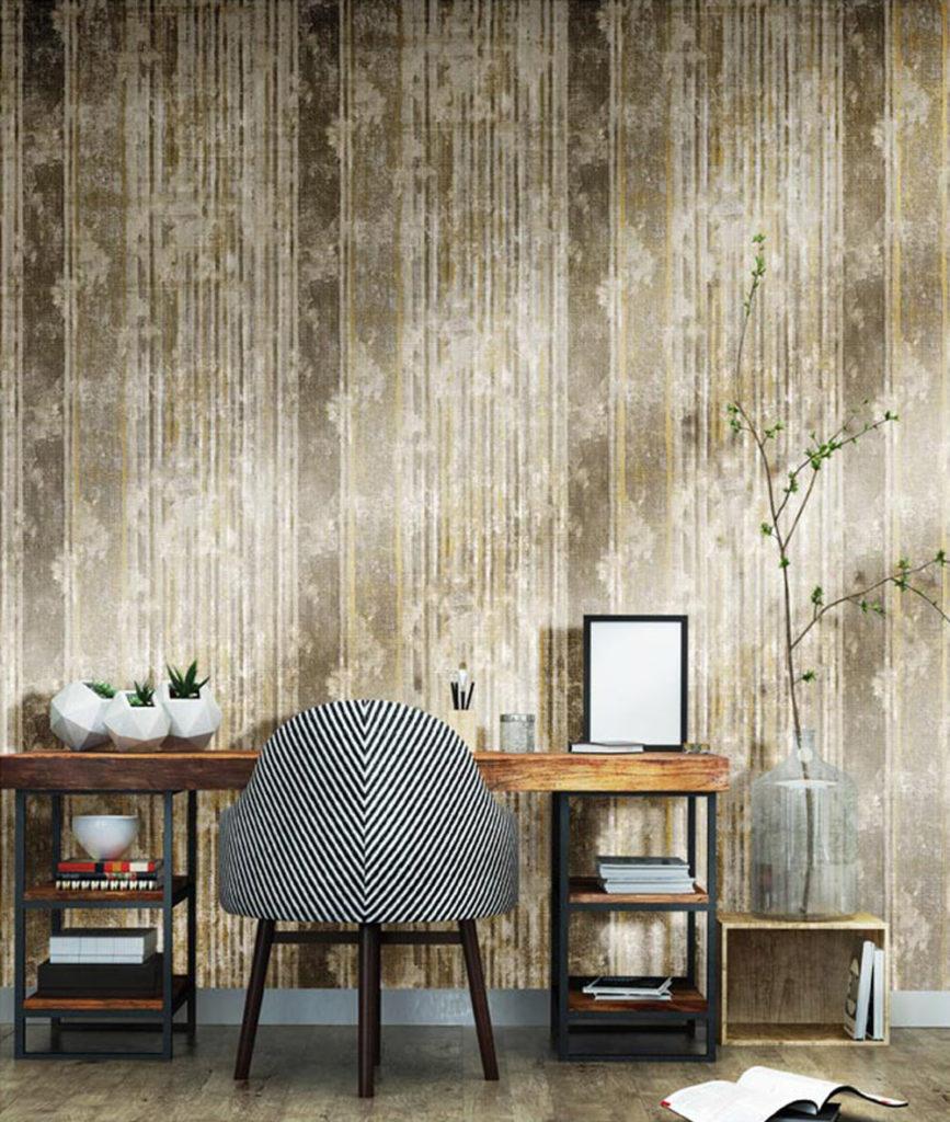 Holzooptik Streifentapete braun beige Vliestapete Rasch Textil Concetto