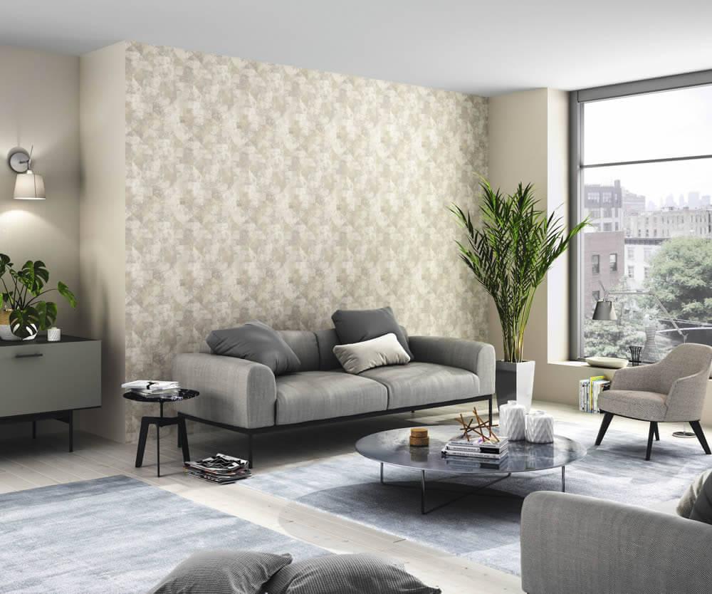Rasch Hyde Park Wohnzimmertapete Vliestapete Muster beige dezent vielseitig