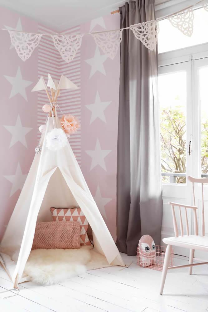 Mustertapeten pink weiß Sterne Streifen Rasch Textil Regatta Crew Surf Edition Mädchenzimmer